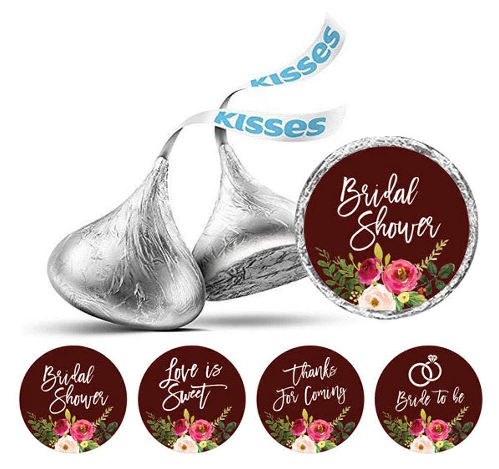 Darling Souvenir Wedding Theme Stickers Hersheys Kisses Candy Labels 190 Pcs Party Favor-Glitter Gold