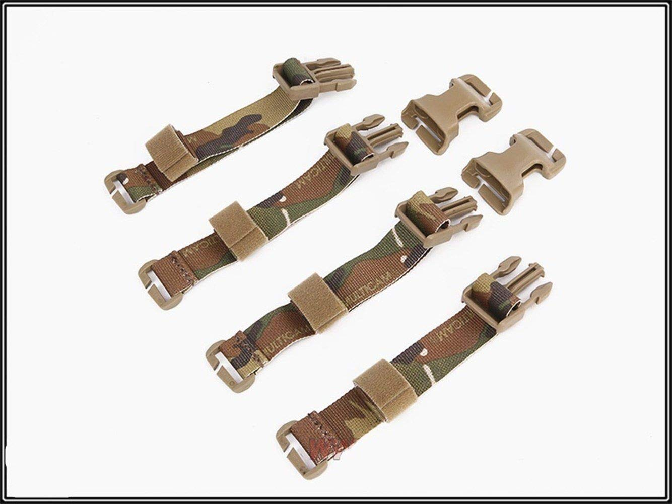 YANODA Jagd Weste Buckle Straps Set Adapter Kit F/ür Tactical Chest Rig Tactical Combat Weste Airsoft Gear Jacke