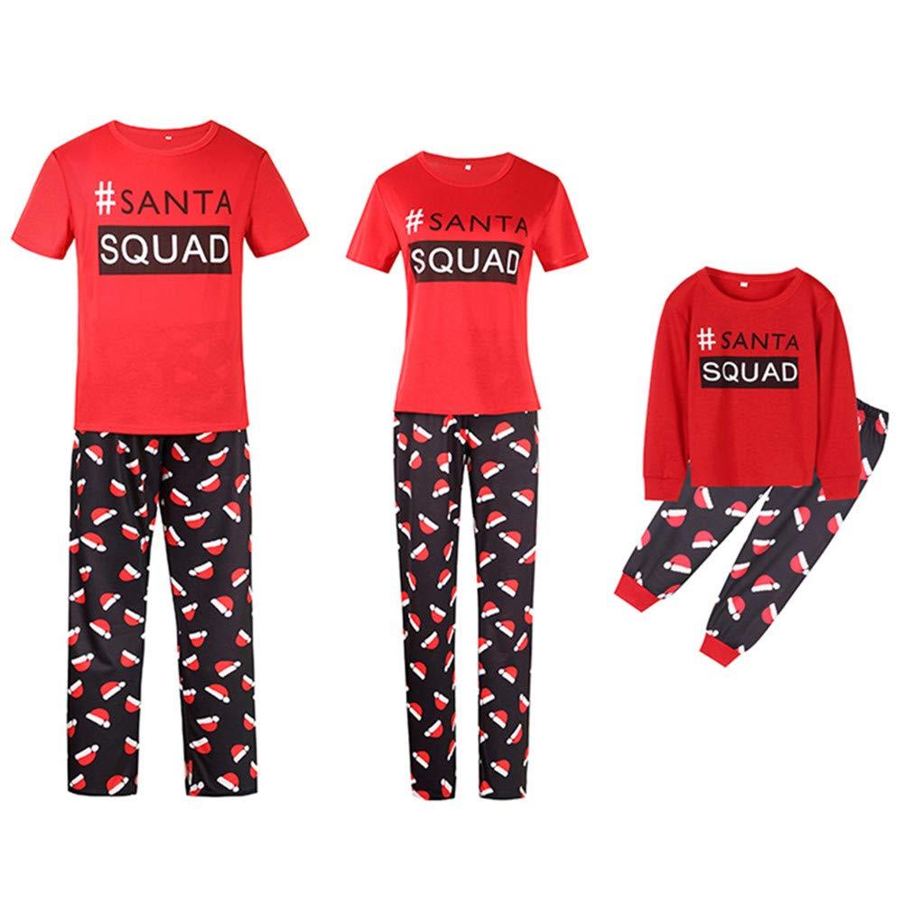 Bhwin Family Matching Christmas Pajamas Set Short Sleeve Xmas Sleepwear Set