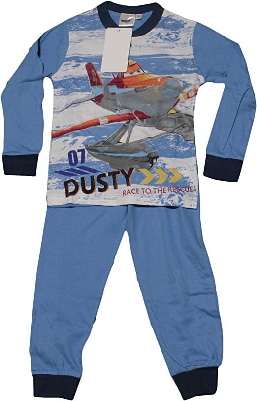 Ruso Tejidos Pijama Bimbo niño Chándal Disney Planes Dusty Pitufo algodón 100% Original 7 Anni: Amazon.es: Hogar