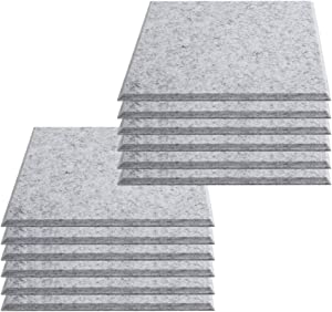 Acoustic Panels,12 PCS Sound Proofing Studio Grey Acoustic Foam Padding High Density Tiles Sound Insulation Panels for Home, Office and Studio Walls