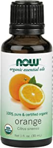 NOW Essential Oils, Organic Orange Oil, Uplifting Aromatherapy Scent, Cold Pressed, 100% Pure, Vegan, 1-Ounce