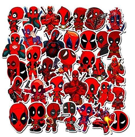 Dibujos animados lindo Marvel Deadpool pegatinas calcomanía para ...