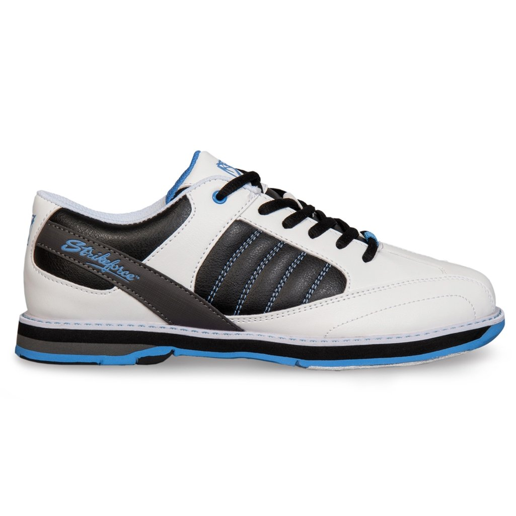 KR Strikeforce L-053-100 Mist Bowling Shoes, White/Black/Blue, Size 10 Daytona Wholesalers Inc