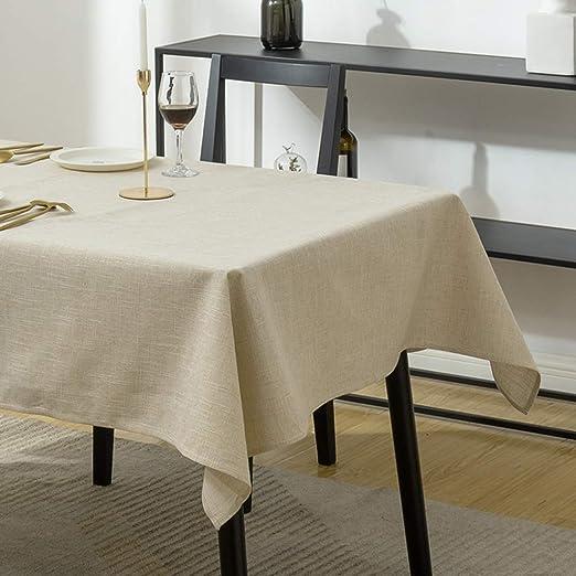 GJH-Manteles- Nordic Simple de algodón de Lino Mesa Rectangular ...