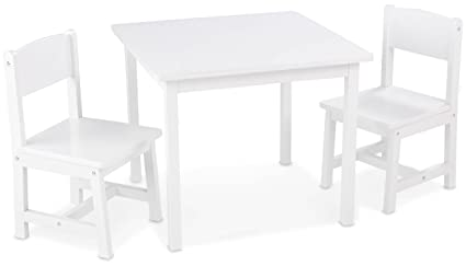 Amazon.com: KidKraft Aspen Table and Chair Set - White: Kitchen & Dining