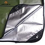 """Arcturus All Weather Outdoor Survival Blanket - All Purpose, Thermal, Reflective, Emergency - 60"""" x 82"""" (Olive Green)"""