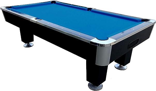 BuckShot Pool Table Lemans 8ft Table De Billard - Table de Pool - Noir/Bleu  - Ardoise - avec Accessoires - Retour de Boules Automatique - Version 4 ...