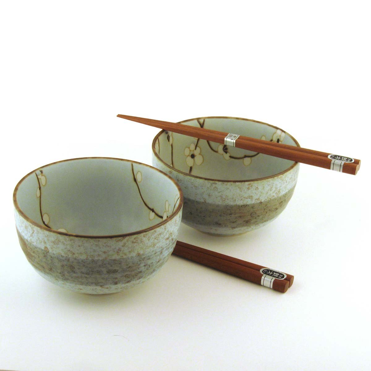 Japanese Spring Blossom Bowl And Chopsticks Set includes 2 Bowls and 2 Sets of Chopsticks MIYA SYNCHKG013259
