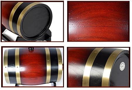 Barril de madera de roble para almacenamiento o envejecimiento de vino y licores, de 1,5 a 20 l, Rojo, 5 L