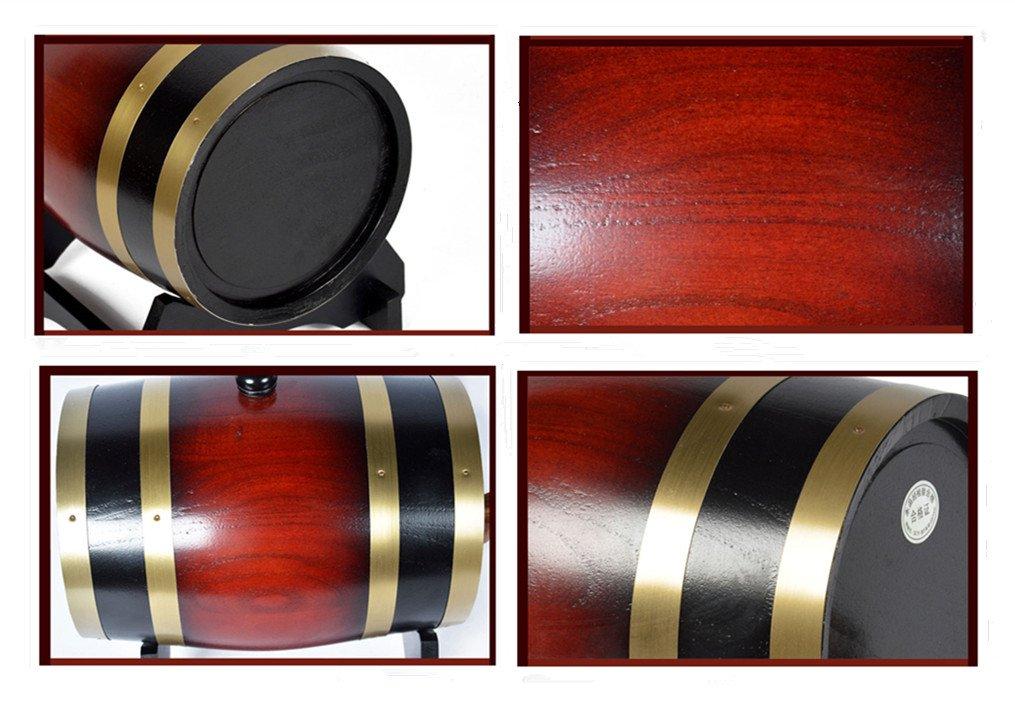 Oak Barrels Wooden Barrel for Storage or Aging Wine Spirits Wine Barrels 1.5L-20 (1.5L, White) TYD
