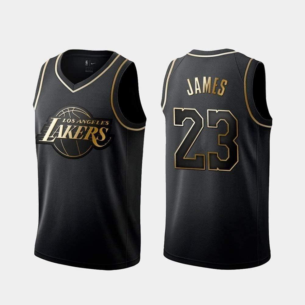 Jersey Lakers # 23 Lebron James Retro Camisa del ...