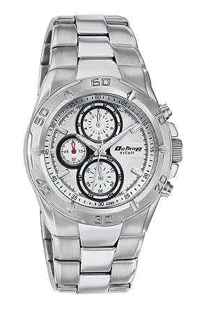 84e2b362daf Buy Titan Octane Chronograph White Dial Men s Watch -NF9308SM01MA ...