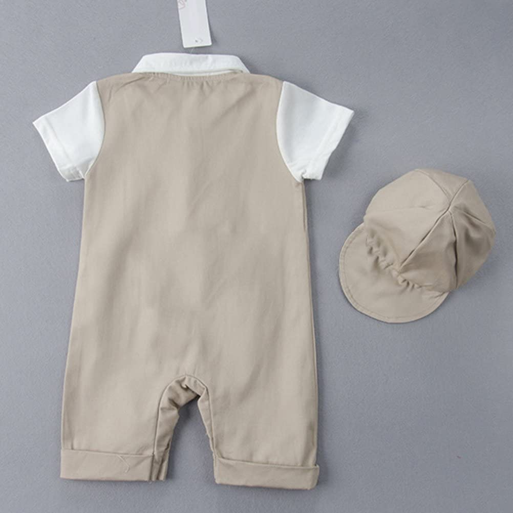 Zhuhaitf Summer Newborn Stripe Romper Baby Boy Girls Cotton Jumpsuit Outfit Sets
