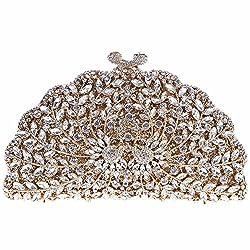 Fawziya Peacock Handbags For Women Purses Wholesale Bags Brands-Gold