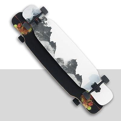 GAOY Skateboard Skateboards Deck Débutants Double Kick Planches à Roulettes En érable Mini Cruiser PU Roues Pour Adultes,E
