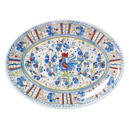 (Le Cadeaux Rooster Coupe Oval Platter, 16