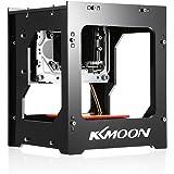 KKmoon DIY Láser Máquina de Grabado Alta Velocidad Miniatura Automático 1000mW Operación del Desconectado Grabador Láser con Gafas de Protección