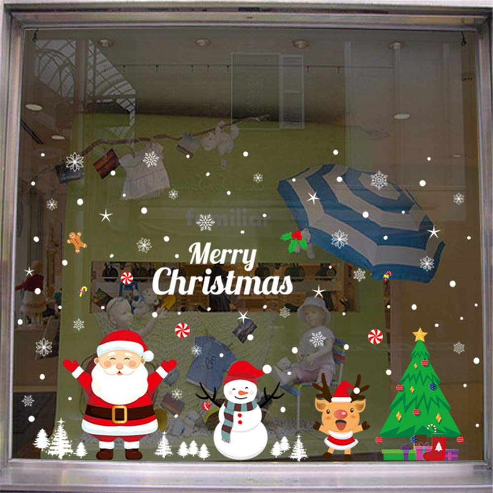 Pgojuni 2019 Merry Christmas Household Room Wall Sticker Mural Decor Decal Removable Home Decor 1PC (F)