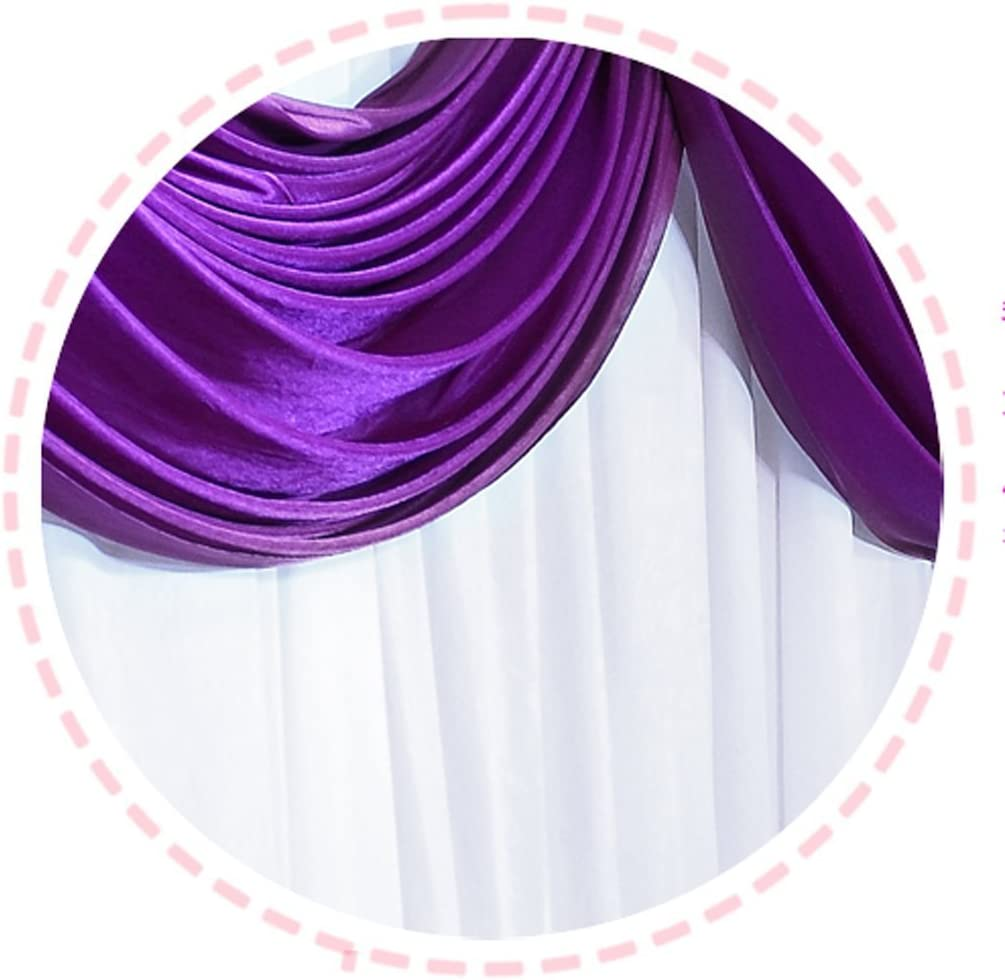 Hochzeitsbühnen Dekorationen Kulisseide Vorhang Violett