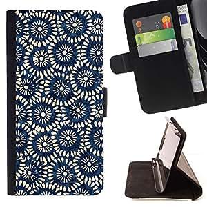 Momo Phone Case / Flip Funda de Cuero Case Cover - Modelo del papel pintado azul del arte - Sony Xperia Style T3