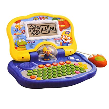 Amazon Com Pororo Korean And English Learning Toy Laptop For Kids