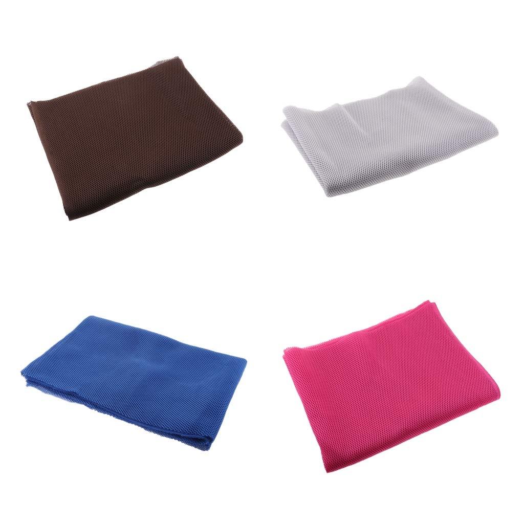 D DOLITY 4 Unids Funda Resistente al Polvo, Protección para Altavoces, 1.4 x 0.5 m, Azul + Blanco + Rosa + Marrón