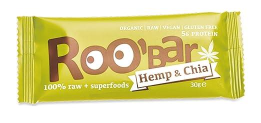 2 opinioni per Roobar Barretta 100% Cruda, Canapa e Chia, 10 pezzi