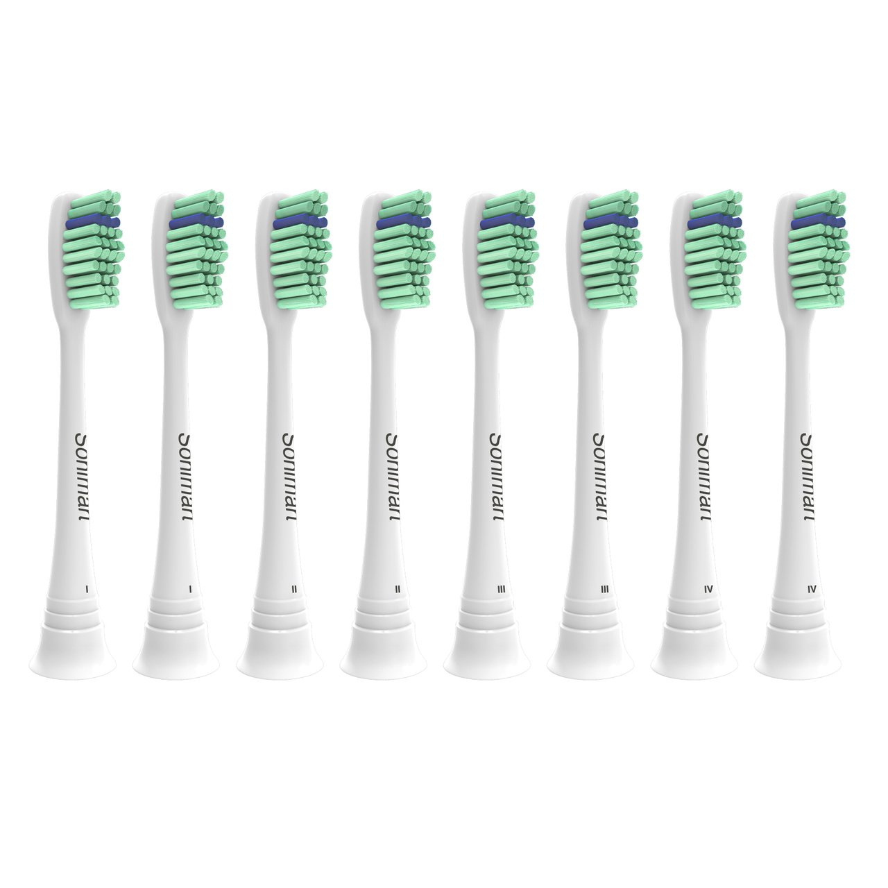 Sonimart Premium Replacement Toothbrush Heads for Philips Sonicare ProResults, 8 pack, fits Essence+, Plaque Control, Gum Health, DiamondClean, FlexCare, HealthyWhite and EasyClean