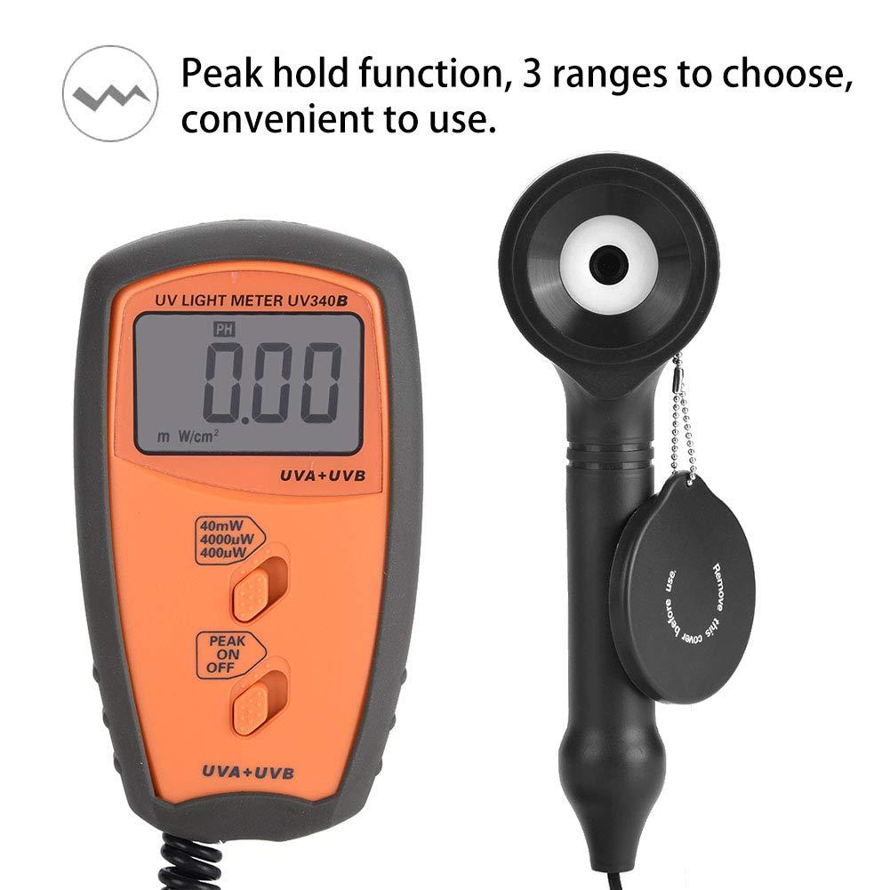 Acogedor UV Light Meter, UV340B Digital Portable Handheld UV Light Meter. UVA UVB Intensity Measure Tester by Acogedor (Image #4)