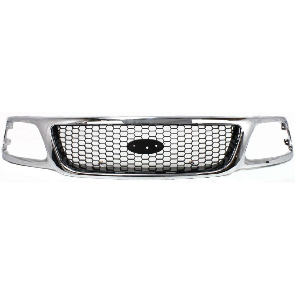 Evan-Fischer EVA17772022958 Grille for Ford F-150 99-03/F-250 99-99 Honeycomb Chrome Shell W/Black Insert XL/XLT/Lariat Models 4WD