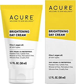 product image for ACURE Brightening Day Cream   100% Vegan   For A Brighter Appearance   Cica & Argan Oil - Moisturizes, Fights Dullness & Improves Skin's Appearance   All Skin Types   1.7 Fl Oz