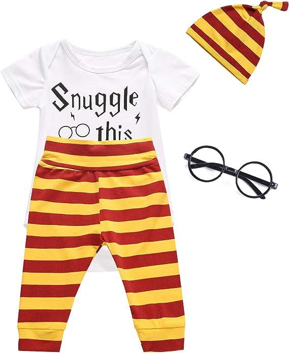 3PCS Outfit Set Baby Boys Girls Short Sleeve Bodysuit