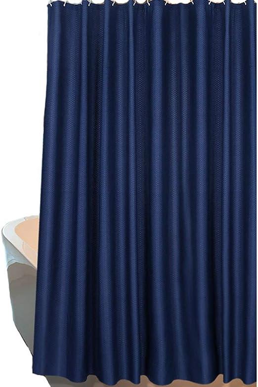 LB Azul Marino Cortinas de Ba/ño 150X180CM Agua de mar Cortina de Ducha con Ganchos,Impermeable Antimoho Poli/éster Cortina de Ba/ño
