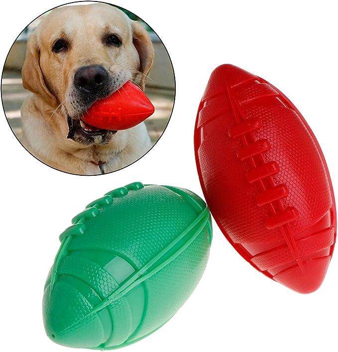 ecLife Pelota de Rugby de Goma termoplástica para Perros y Gatos ...