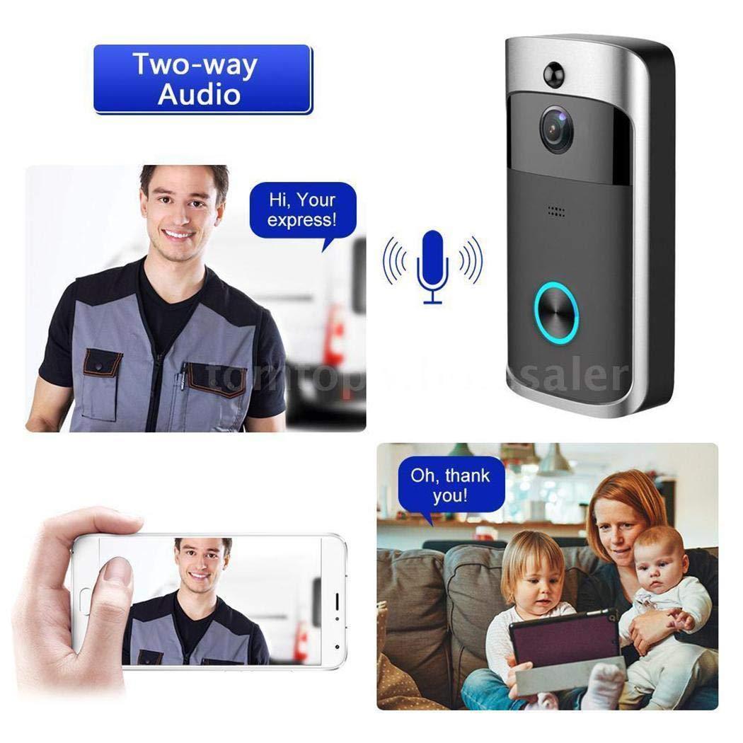 GuGio HD 720P WiFi Smart PIR Video Doorbell Visual Intercom Recording Video Door Phone
