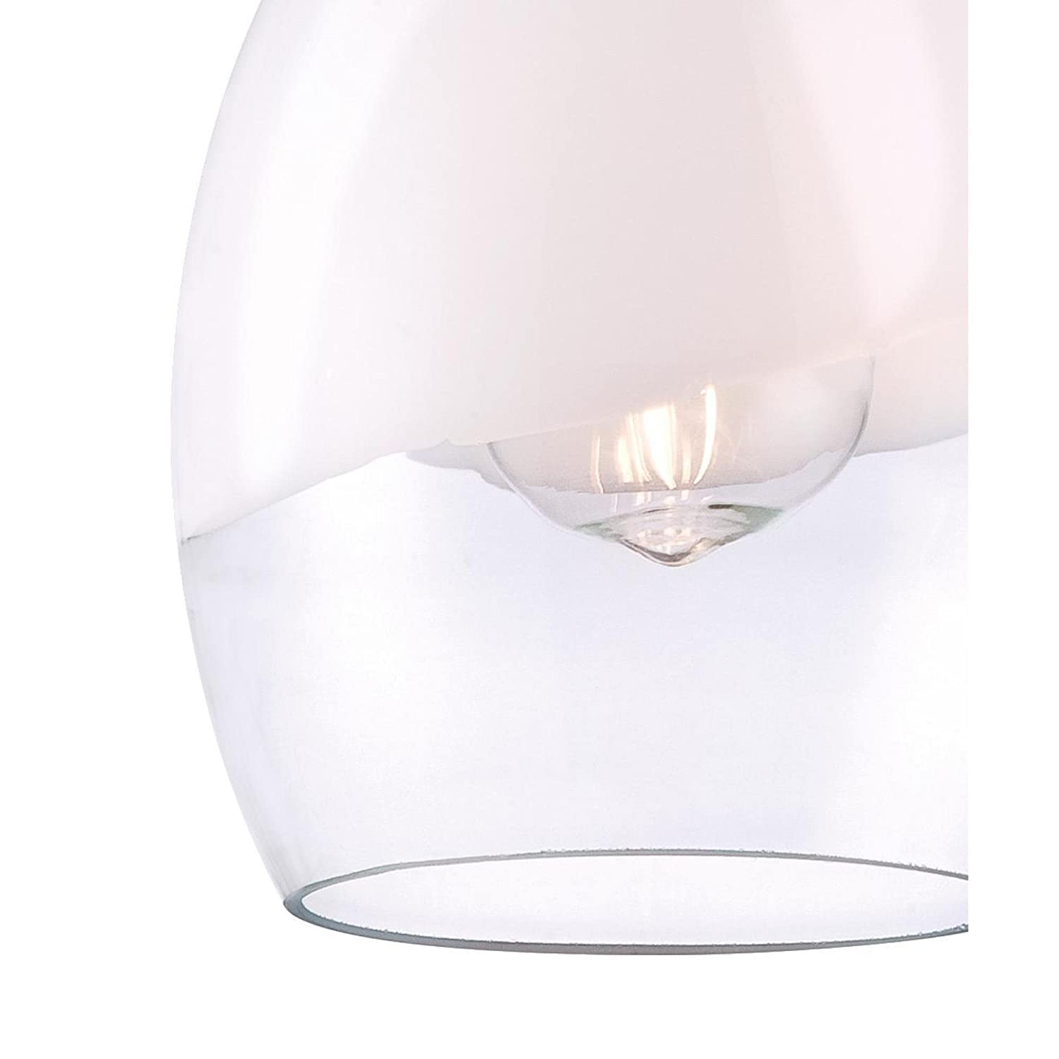 Brushed Nickel Finish with Clear and White Glass Indoor Pendant Westinghouse 6362800 One-Light Mini
