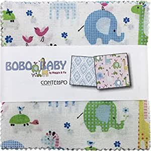 Maggie and Flo Bobo Baby 5X5 Pack 42 5-inch Squares Charm Pack Benartex