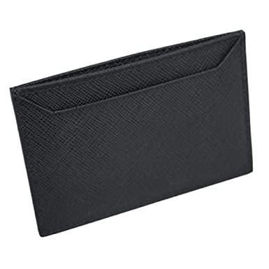 8b08e5cbc40126 Image Unavailable. Image not available for. Color: Prada Black Nero Saffiano  Men's Leather Wallet ...