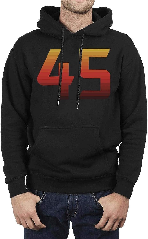 ZGEHGE Mens Breathable Fleece Black Pullover Warm Winter Hooded Sweatshirt
