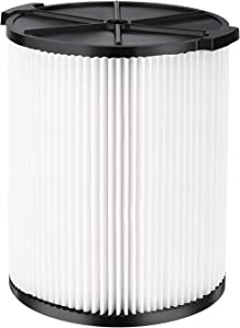 Isingo VF4000 Replacement Filter Compatible with Ridgid 72947 Wet Dry Vac 5 to 20-Gallon 6-9 Gal Husky Craftsman 17816 Vacuum Compatible WD5500 WD0671 RV2400A RV2600B