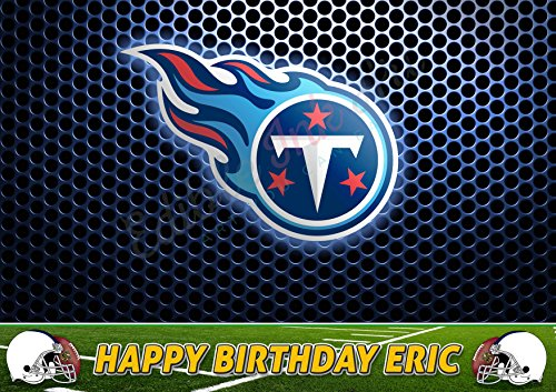 Tennessee Titans NFL Edible Cake Image Topper Personalized Icing Sugar Paper A4 Sheet Edible Frosting Photo Cake 1/4 ~ Best Quality Edible Image for cake for $<!--$15.99-->