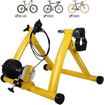 YUXINCAI Rodillo de Entrenamiento, Rodillo magnético de Bicicleta, Bicicleta Turbo Trainer Rodillo magnético de Bicicleta Turbo Trainer con ajustador de Velocidad, 26 a 28 Pulgadas: Amazon.es: Deportes y aire libre