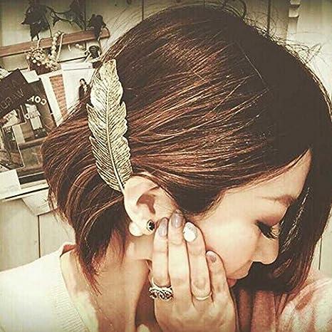 OULII 2 plumas/hojas con forma de clip, accesorios para el pelo ...