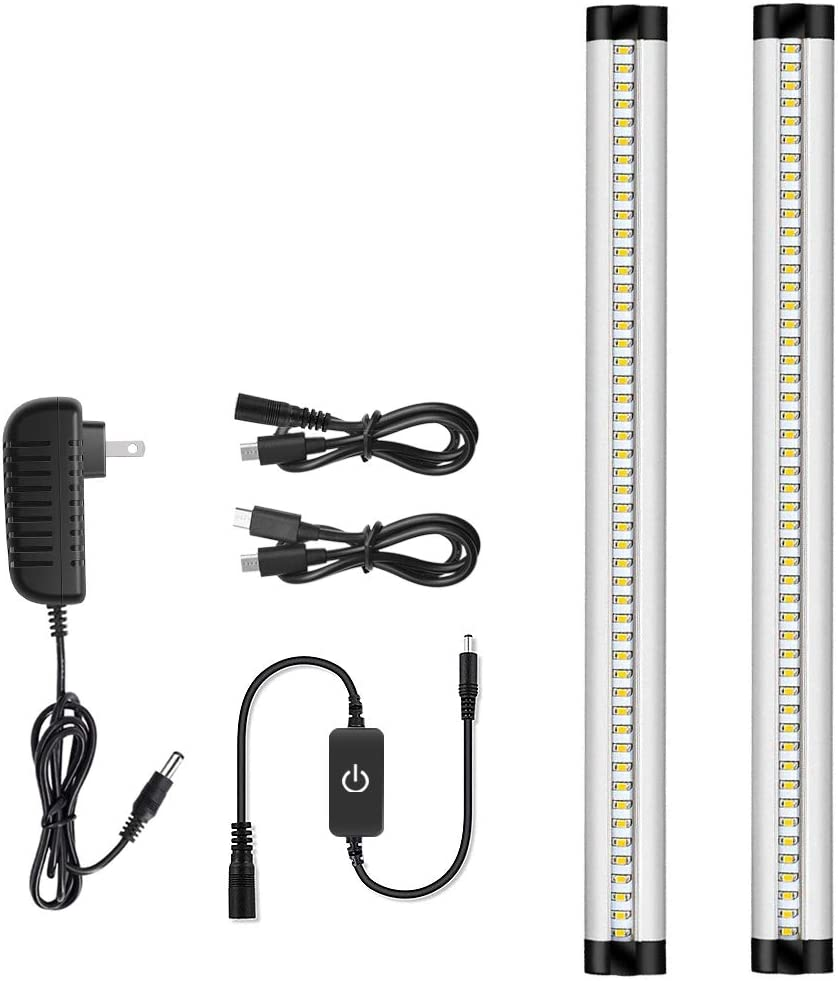LED Light Bar Warm White 3 Pack Kit With Touch Control Memory Function /& Dimmer