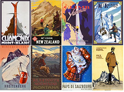Vintage Travel Decal - Large Stickers (each sticker 2.5
