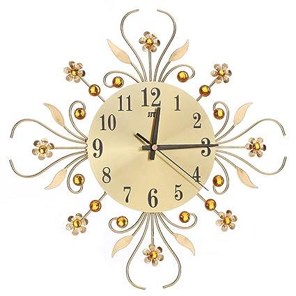 reloj de pared adhesivo 3D, Sannysis reloj vintage digital cocina (Oro)