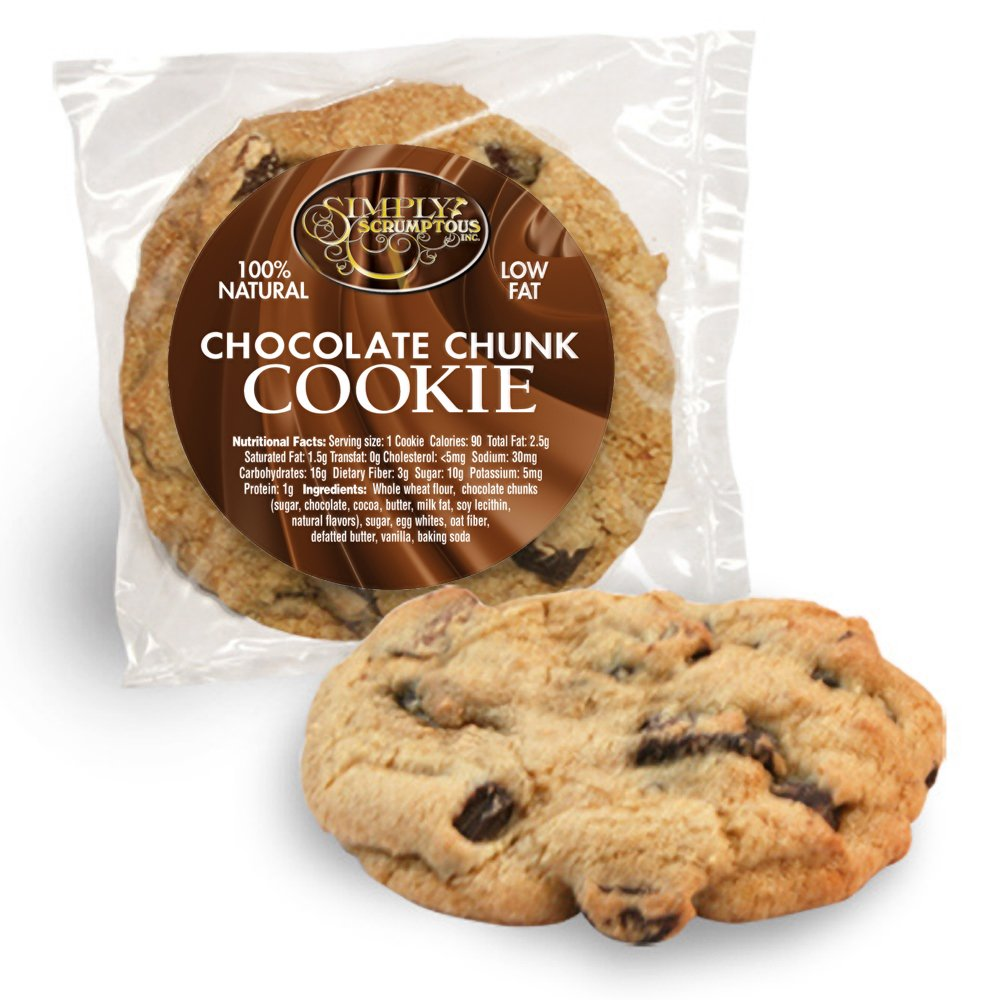 Simply Scrumptous Low Fat Chocolate Chunk Cookies