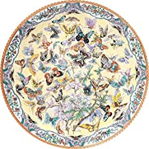 Bits and Pieces - 1000 Piece Round Puzzle - Ninety Nine Butterflies, Flowers and Butterflies - - 1000 pc Jigsaw