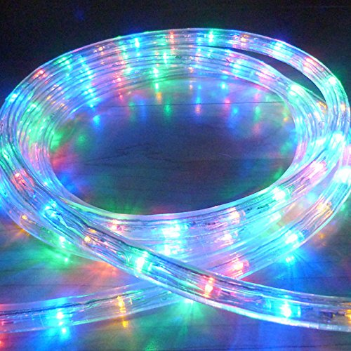 Bright Lightz© LED Rope Lights, Multi Colour, 10 Metre - 100 Metre Lengths, 6 Controllable Flashing Functions, Fantastic Outdoor Christmas Lights, Decorative Xmas Lights, Gardens Lights, Etc. (10 Metre) [Energy Class A+++] Bright Lightz®